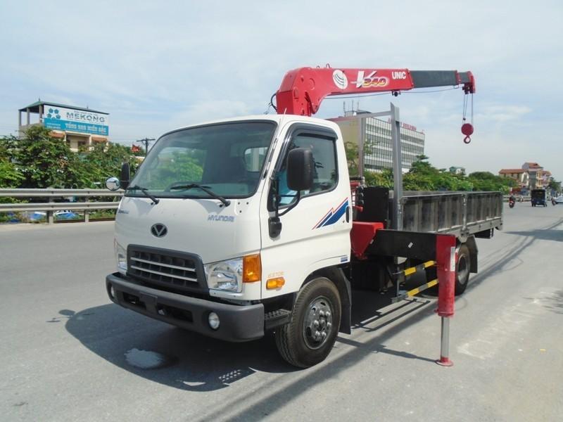Hyundai HD99 gắn cẩu Unic 3 tấn URV344