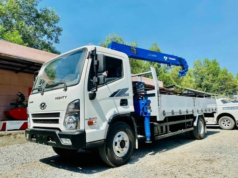 Hyundai Mighty EX8 GTL Gắn Cẩu TADANO